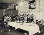 1919 Christmas party in back of Maruman camera store at 141 West 100 South, owned by the Takasus. ...
