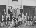 U.S. National Ski Hall of Famers assembled at Sun Valley, February 6, 1986 Standing back row L to...