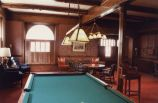Interior view of the Alta Club building -- billiard room