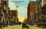 reproduction of an earlier color Postcard - Curtis Street looking East, Denver, Colorado