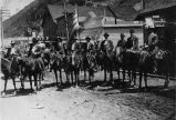 Reproduction of an earlier photograph of the Fourth of July Parade, Bingham Canyon
