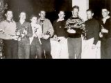 Alta's Snow Cup winners, 1953, L to R: Brynhild Grasmoen, Jeanette Burr, Mary Isabel Litchfield,...