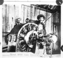 Ames power plant, San Miguel County, Colorado [006]: Men with Ames generator