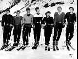 Olympic stars, L to R:  Jack Reddish, Dick Movitz, Dev Jennings, Brynhild Grasmoen, Anne Winn,...