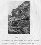 "(Fig. 5) ""Occurrence of horizontal beds of gilsonite between layers of the Green River..."
