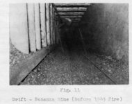 "(Fig. 11) ""Drift–Bonanza Mine (Before 1945 fire)."""
