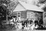 Dry Fork Group in Front of Log Cabin