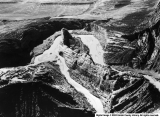 Aerial View of Steamboat Rock in Dinosaur National Monument