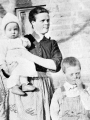 Ada Stewart with Children, Fritz and Guy