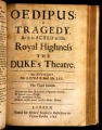 Oedipus : a tragedy. As it is acted at His Royal Highness the Duke's theatre