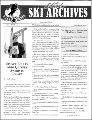Utah Ski Archives Newsletter, Autumn, 2000, No. 17