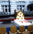 75th Anniversary - Podium and beehive decoration