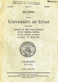 1911-12 General Catalog; University of Utah catalogue; (Catalog)