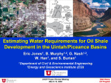 Estimating water requirements of oil shale development in the Uintah/Piceance Basins