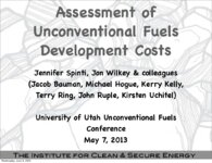 Assessment of unconventional fuels development costs