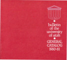 1980-81 General Catalog; University of Utah catalogue; (Catalog)