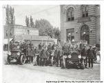 1917 Firemen and Fire Trucks
