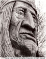 """Chief Wasatch"" looks wisely out at all those who enter Murray Park"