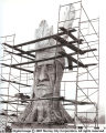 "25 foot statue of ""Chief Wasatch"" nearing completion"