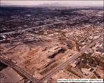 Aerial view after the demolition of the smokestacks