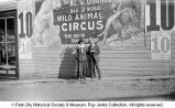 Circus advertisement on building