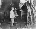 Thomas Kearns and David Keith in the mine