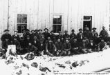Miners at Daly West boarding house