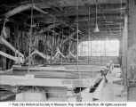 Flotation tables inside a mill