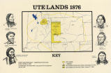 Map titled Ute Lands 1876;
