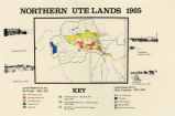 Map titled Northern Ute Lands 1905;