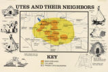 Map titled Utes and Their Neighbors;