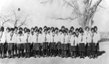Girl students at Western Navajo School