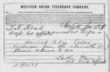 Telegram from Indian Agent to Utah Superintendency on Januar 12, 1868