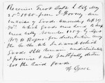 Note made by Howard Egan of goods received dtd May 25, 1860