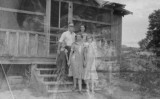 Ed Black, Indian Agent, and family; Allen Canyon, San Juan County, Utah