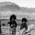 Young Navajo traders