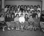 Group of female Intermountain School students and faculty;