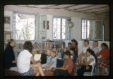 D.V.B.S.-Children in a library listening to Father Liebler. Summer 1961