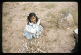 A Navajo girl with a broken arm;