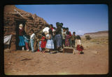 A group of Navajos on Palm Sunday;