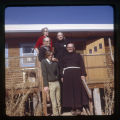 Father Liebler, Helen Sturges, Brother Robb, Brother Juniper, Allen Eales, and Oljeto Porch.