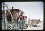 A Navajo woman at St. Christopher's Mission;