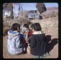 A group of Navajo children.  This picture taken during Christmas at Hat Rock Valley Retreat Center;
