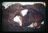Desert landscape; rock formations, natural bridges, and arches.