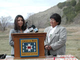 Bear River Massacre site press conference.
