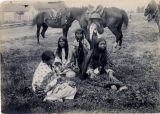 Group of Charlie Mack's family, White Rocks - Stella, granddaughter; daughter-in-law; 'Ai lo the'...