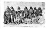 Group of men, women and children, Bannock Tribe, 1872