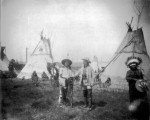 William F. Cody and a Native American man