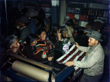 Christmas Party -- Heflin's, December 21, 1946, Navajo women inside trading post. Reuben Heflin...