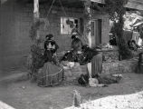 Navajo -Addikai-Yazzi family after dinner - 4th of July celebration at Gouldings Trading Post in...